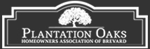 Plantation Oaks Logo - White
